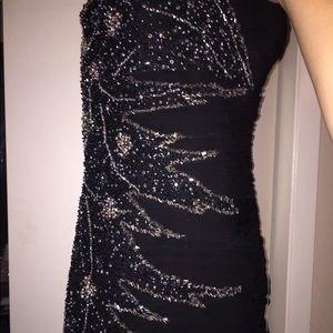 Sequin evening gown